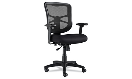 Alera Elusion Series Mesh Mid-Back Multifunction Chair, Black a317bfaa-d443-4b65-b952-aeb0bae79e55