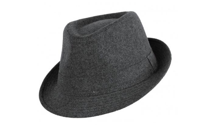 Sakkas Plain Color Unisex Fedora Hat