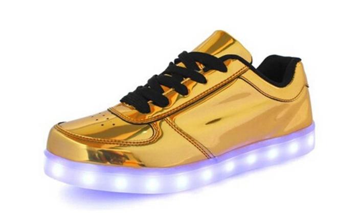 Unisex Fashion Casual USB Charging LED Light Up Shoes