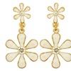 Belle Femme Fashion Earrings ER-FLR3WHT