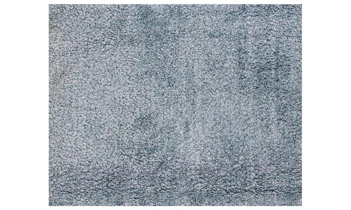 Light Blue Soft Latex Backing Non Slip Bath Mat Rug Carpet 18 X 30