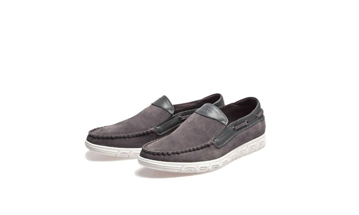 Men's Leather Manmade Original Boat Slip-On Loafer Shoes