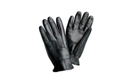 Solid Genuine Leather Driving Gloves