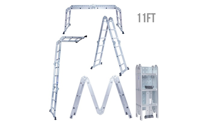 C.S.L 11Ft Aluminium Multi-Purpose Folding Step Ladder Scaffold