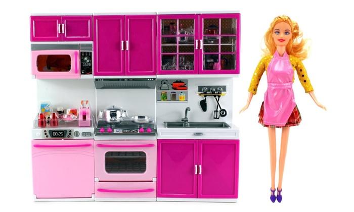 My Happy Kitchen Dishwasher Oven Sink Toy Doll Kitchen Playset | Groupon