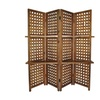 Cheungs 4 Panel Room Divider with 2 Shelves