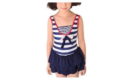 Girls' Navy Stripe One Piece Swimwear 9727a100-087b-4f29-a497-0baa4d4c58eb