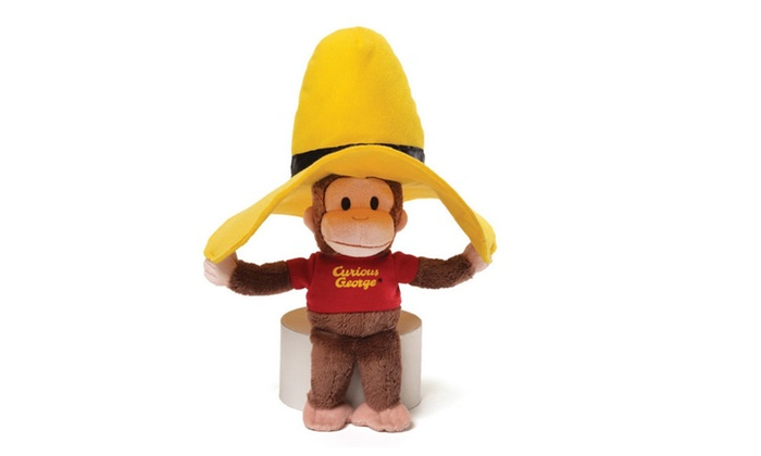 Gund 10 Plush Monkey Curious George In Big Yellow Hat Stuffed