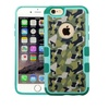Insten Camouflage Hard Case For iPhone 6 6s Plus Green Black