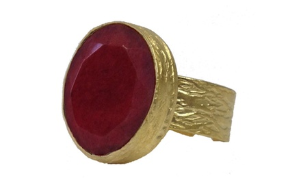 Large Cherry Cocktail Ring