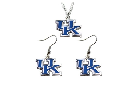 NCAA Kentucky Wildcats Necklace and Dangle Earring Charm Set 274d2e69-5716-4476-a063-7e96f176268f