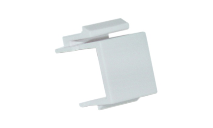 Cable Wholesale Keystone Insert, White, Blank