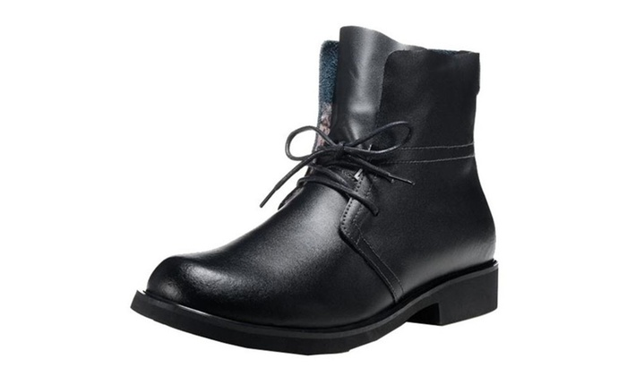 Men's Formal Combat Chukka Lace-Up Leather Boots