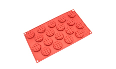 Freshware 18-Cavity Silicone Waffle, Cookie, Chocolate and Candy Mold 2da78c77-e9d5-48d7-ae19-d9fd58772b26