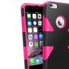 Insten Pink Dynamic Slim Hybrid Hard Soft Cover Case ForiPhone 6 Plus
