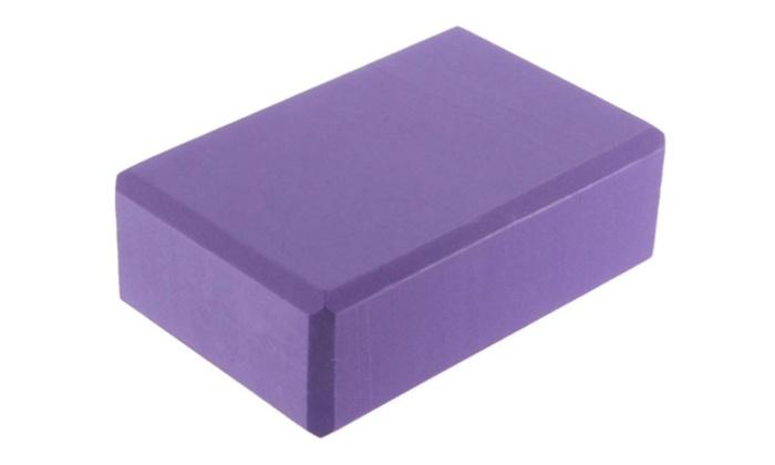 Yoga Block Foaming Foam Brick Home Exercise Tool Purple