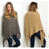 Chevron Knit Poncho-5 Colors