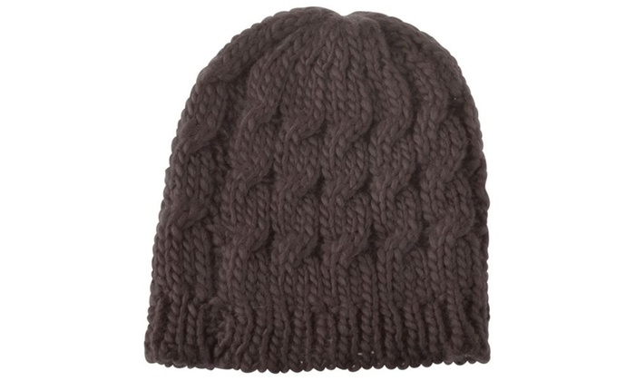 4c14b6e6ca0 Zodaca Brown Women Knit Winter Warm Crochet Hat Braided Beanie Cap ...