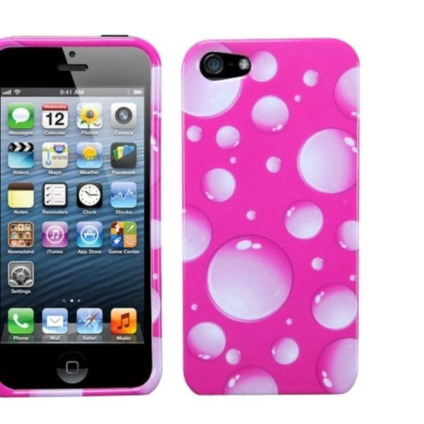 Insten Pink Bigger Bubbles Hard Case Snap-On Skin Cover For iphone5/5s