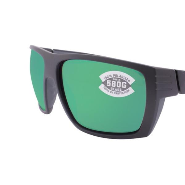 b0147d95f151b Costa Del Mar Hamlin HL 11 OGMGLP Matte Black   Green Mirror 580G ...