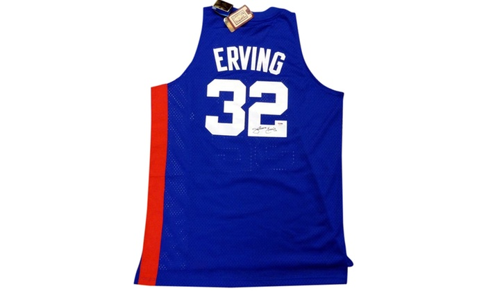 6cfda3dcc30 Up To 27% Off on Julius Erving Autographed Blu... | Groupon Goods