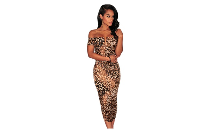 Women's Leopard Print Off-The-...