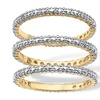 Diamond Accent 18k Gold-Plated Eternity Band Set