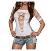 Women's Round Neck Short Sleeve Shirt For Women