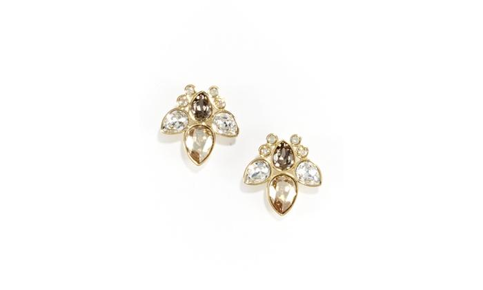 swarovski alabaster stud earrings groupon