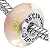 Sterling Silver 'Intimate' Pacific Murano-style Glass Bead