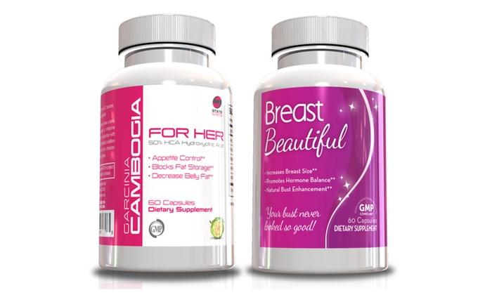 Buy It Now : Women Fitness Kit-Garcinia for Her & Breast Beautiful w/Waist Trimmer