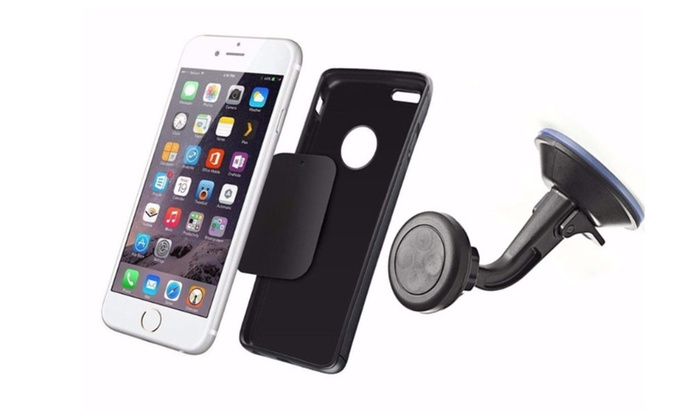 Magnetic car cell phone gps holder with 360 rotation 4
