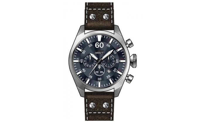 Invicta 19668 Blue Dial Quartz Chronograph Aviator Men s Watch  3af9bf911