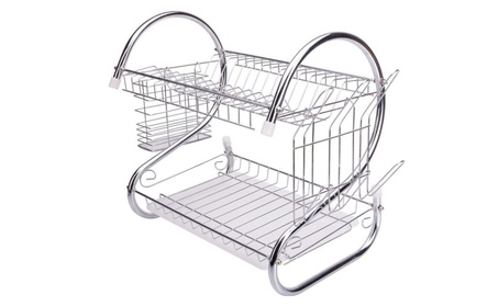 Dish Cup Drying Rack Drainer Dryer Tray Cultery Holder Organize 27ae253e-f8fd-4bfa-ab0b-1c80257bc79f