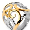 Gold Plated Stainless Steel Swirl Heart Ring