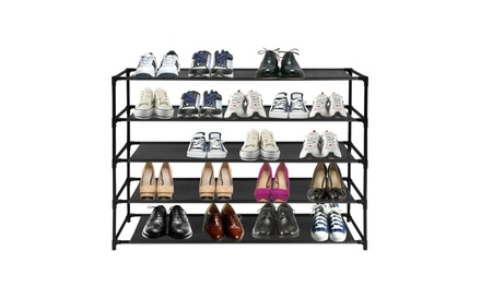 4-10 Tier Shoe Rack Detachable Non-Woven Waterproof Fabric Shoe Organizer