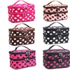 Adorable Polka Dotted Two-Layer Cosmetic Makeup Bag-6 Colors