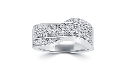 1.25 ct Ladies Round Cut Diamond Anniversary Ring