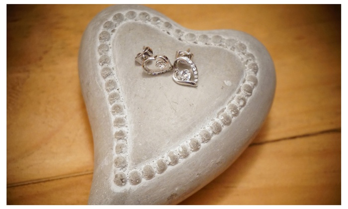 Floles - We Don't Make Mistakes: Heart Earring With Swarovski Elements Crystal