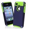 Insten Hybrid Case For Apple iPhone 4/ 4S, Green TPU/ Dark Blue Hard