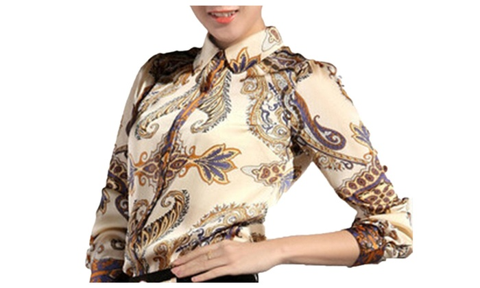 DPN Women's Autumn Fashion Chiffon Blouses