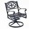 Biscayne Black Swivel Dining Chair