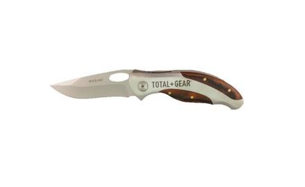 Total Gear Cherrywood Hunter Lockback Plain Edge Folding Knife
