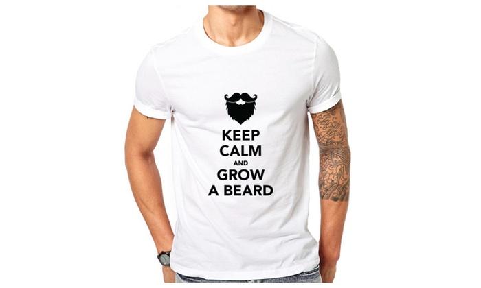 Keep Calm And Grow A Beard Funny T-shirt
