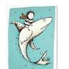 Carla Martell Fish Boy Canvas Print