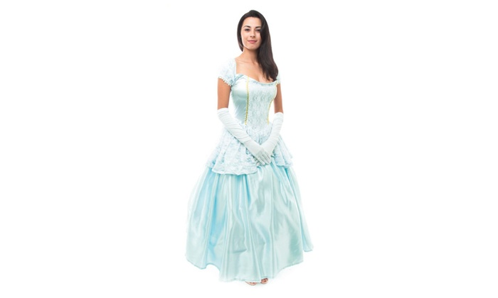 Blue Princess Cinderella Inspired Ball Gown Dress Halloween Costume