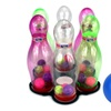 Velocity Toys See Through Light Up Children's Toy Bowling Playset