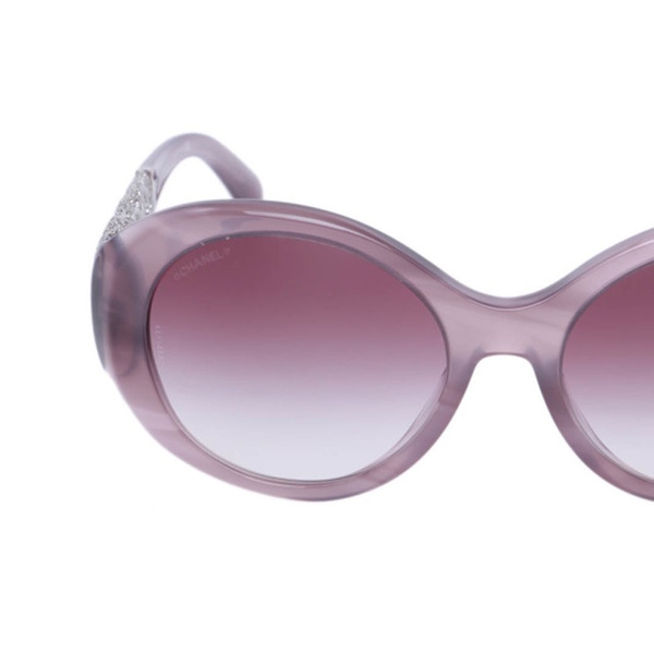 4cfc19c58940 New Authentic Limited Edition Chanel 5262 Oval Pink Bijou Sunglasses ...