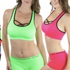 Women's Seamless Racer Back Sports Bras with Front Cross Design