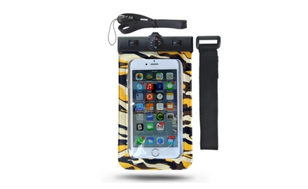 H2NO Dry Bag - Universal Waterproof Cell Phone Carrying Case for Apple iPhone 6, 5s, 5, Galaxy S5, S4 S3, HTC One, Galaxy Note 3, MP3 Player - IPX8 Certified to 100 Feet.  Color:  Yellow-Camo